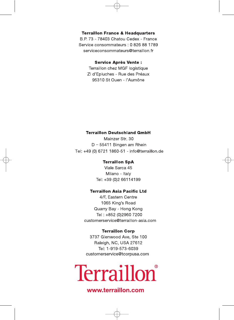 buy reasonable price amazing selection Mode d'emploi Terraillon Color Coach (17 des pages)