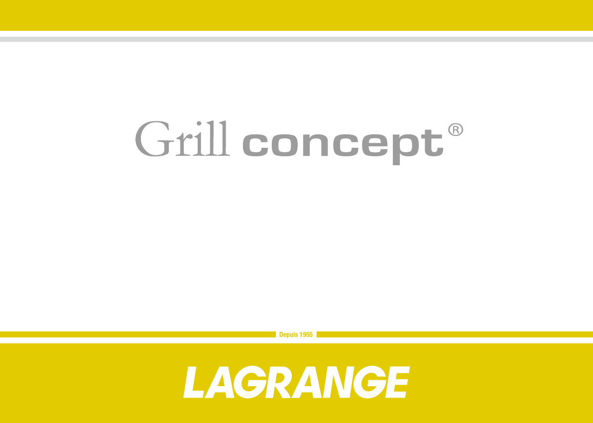 Mode d'emploi Lagrange Barbecue Grill Concept (52 des pages)